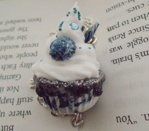 Wintry Mix Cupcake Necklace