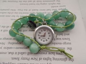 Amazonite wrapped bead bracelet