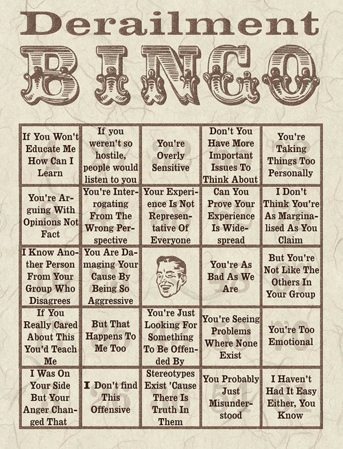 'Da Bingo Board o' Destiny!!!!!! Derailment Bingo
